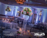 "Pin Spotting - Pin Spot Lighting<br />Your Guests Will Say ""WOW!""<br />You've spent hours planning every detail of your reception. Pin spotlighting is an elegant way to accentuate these details. Soft lights project a perfect glow on your centerpieces, cake table, memory table, candy table, etc. and adds that extra 'wow' factor to your reception. The lights are able to be adjusted to compliment centerpiece or wedding theme colors.  You're welcome to call 610.393.3339 today with questions!"
